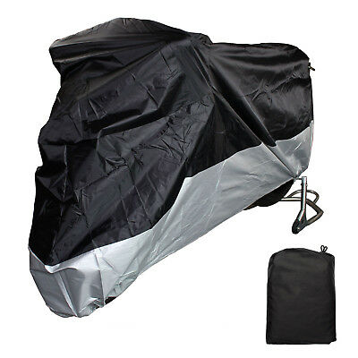 L Large Motorcycle Cover Motor Bike Scooter Waterproof Dust Protector Rain Black