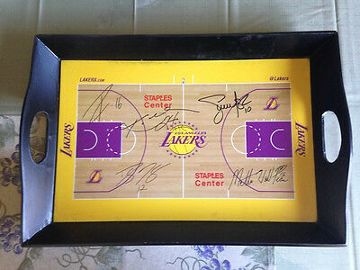 LA Lakers basketball 2010-2011 Stadium Promo Signature Serving Tray Kobe Bryant