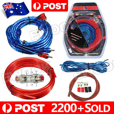 OZ J 1500w Car Amplifier Wiring Kit Audio Subwoofer AMP RCA Power Cable AGU FUSE