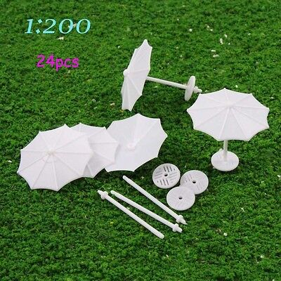 TYS02200 24pcs DIY Model Train parasol Vertical Simple Gifts 1:200 Z Scale New