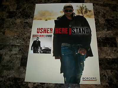 Usher Rare Borders Exclusive Full Color Promo Poster Print 2008 Here I Stand WOW