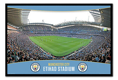 Framed Manchester City The Etihad Stadium Poster New