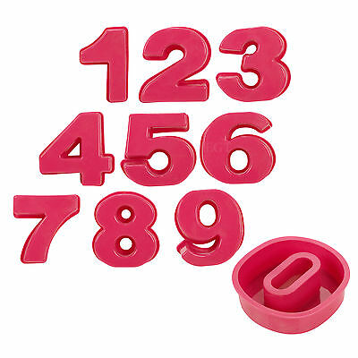 Birthday Party Cake Biscuit Jelly Number 0-9 Silicone Mould Non Stick Oven Safe