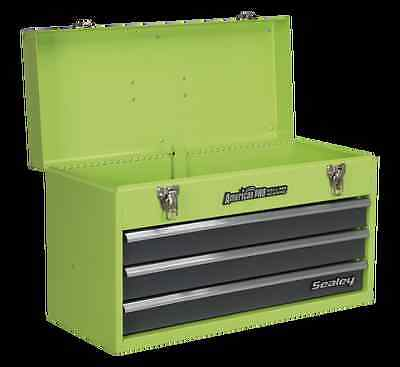 Sealey Tool Chest 3 Drawer Portable with Ball Bearing Runners - Hi-Vis Green