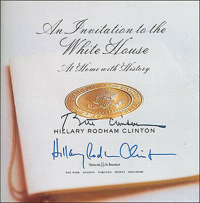 """William J. """"Bill"""" Clinton - Book Signed Co-Signed By: Hillary Rodham Clinton"""