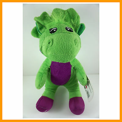 """Barney The Dinosaur 12"""" Sing I LOVE YOU song Green Plush Soft Toy Doll + CHARM"""