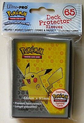 Ultra-Pro Pokemon Pikachu Deck Protector Sleeves Pack of 65 Grey Design