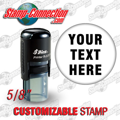 "Shiny 517R Self-Inking Round Stamp 5/8"" with or without border"