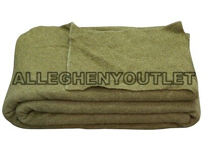 US Military Army Field WOOL BLANKET Survival Camping Hunting Emergency GC