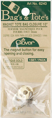 """Magnetic Tote Bag Closure 1/2""""-Antique Gold, Set Of 3"""