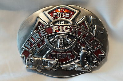 Canadian Firefighter Belt Buckle