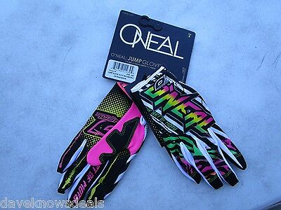 O'Neal Oneal adult motocross gloves JUMP AUTO neon, size 8  SMALL  0385-428