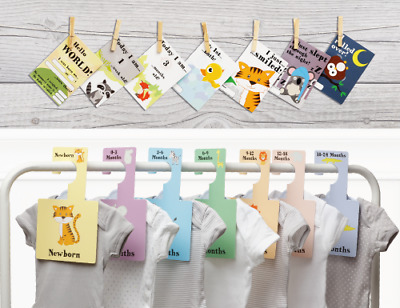 BABY WARDROBE DIVIDERS + MILESTONE CARDS SET | Organise Clothes + Keepsake (S)
