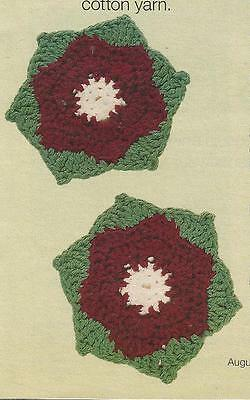 Crochet Pattern LANAI  FLORAL COASTERS  Easy Pattern Instructions /& Kit Options