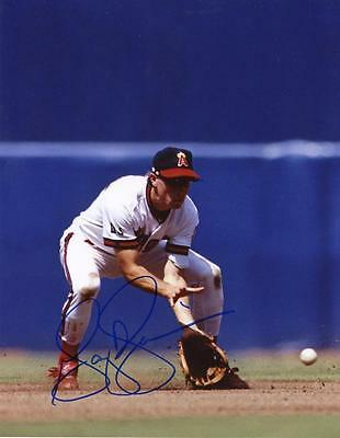 Gary Disarcina Los Angeles Angels Action Signed 8X10 Photo W/coa