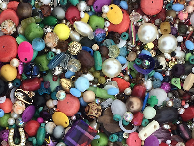 ~10 Pounds of Loose Beads All Colors Shapes Materials Sizes New Old HUGE Variety