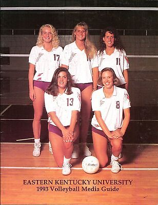 1993 Eastern Kentucky Colonels Volleyball Media Guide