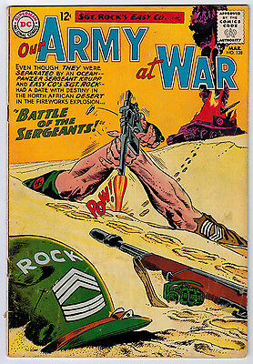 Our Army At War #128 3.0 1St Sgt. Krupp Off-White Pages Silver Age