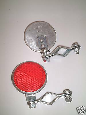 BICYCLE REFLECTOR WITH CLAMP by Reg made in Italy