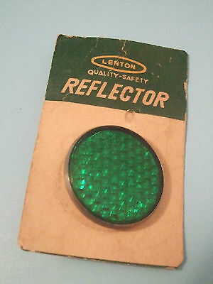 1970's BICYCLE Green Reflector by Cat eye bia 104