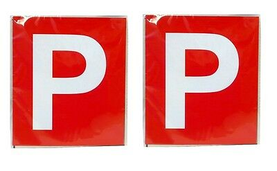 2pcs Driver Magnetic P Plate (Red) - Victoria & Western Australia Brand New