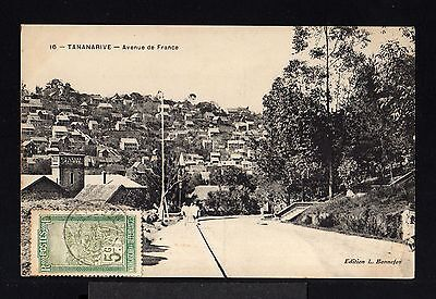 11254-MADAGASCAR-OLD POSTCARD TANANARIVE to PARIS(france)1910.FRENCH Colonies