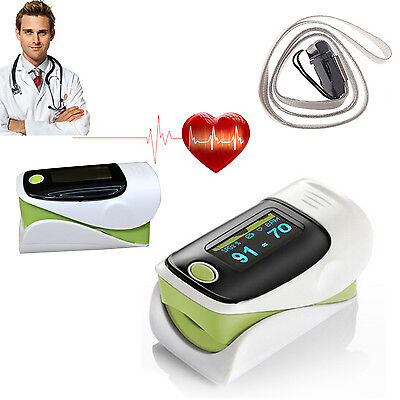 Heart Pulse Rate Blood Oxygen Level Fingertip Monitor Spo2 Pr Finger Oximeter Uk