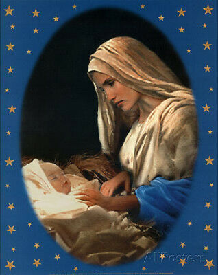 Madonna and Child (Baby Jesus) Art Poster Print Mini Poster Print, 16x20