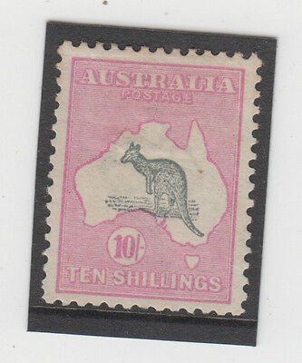 Kangaroo 10/- stamp 1st watermark in very fine well centred MH condition, scarce