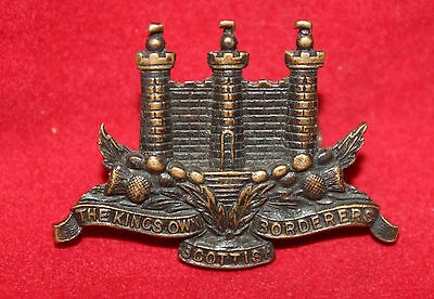 Kings Own Scottish Borderers Collar Badge - Officers?  (inv. 7020)