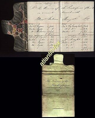 """1839-41 Union Shipping Co, BERWICK. Bank Book for the Brig """"LINDISFARNE"""""""