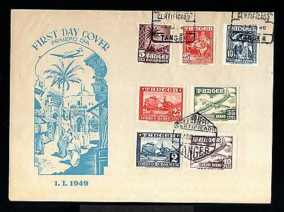 11318-SPANISH MOROCCO-SPAIN COLONIES-FIRST DAY COVER TANGER.1949.WWII.Marruecos.