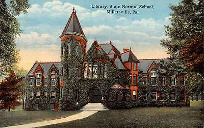 Millersville Pennsylvania State Normal School Library Antique Postcard K33120