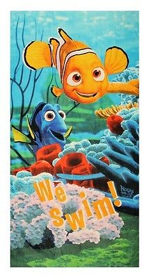 New Official Childrens Finding Nemo Beach Towel Bath Towel