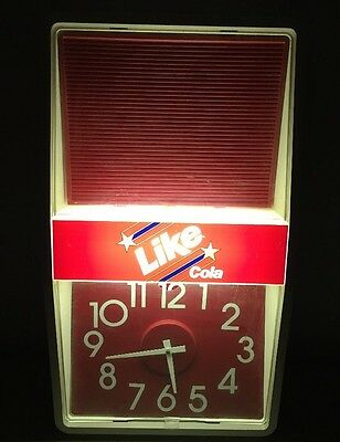 Vintage 80's Like Cola By 7-Up Lighted Clock Sign Marquee Tested 25.5 X 14 Works