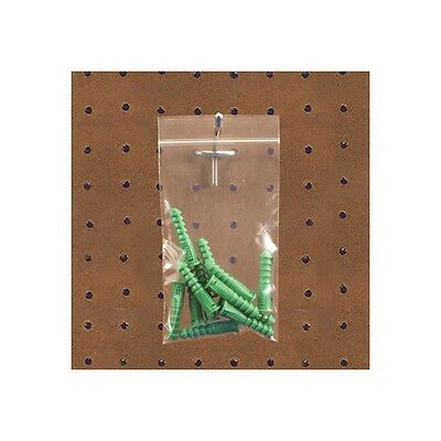 """""""Reclosable 2 Mil Poly Bags w/Hang Hole, 9""""""""x12"""""""", Clear, 1000/Case"""""""