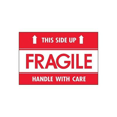 """""""Tape Logic Labels, """"""""Fragile - This Side Up - HWC"""""""", 2""""""""x3"""""""", 500/Roll"""""""