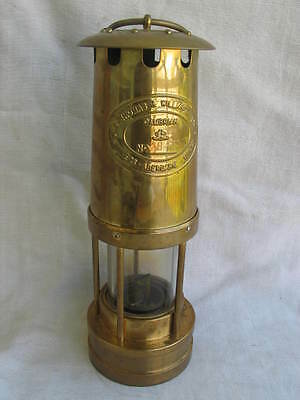 Laterne Leuchte Bergbau Cambrian miners safety lamp 1860 Nachbildung in OVP