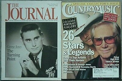 2 George Jones Cover Magazines - 1994 The Journal & 2000 Country Music