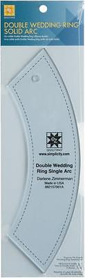 Simpli-Ez Quilting Acrylic Template Double Wedding Ring Single 882157001A