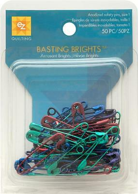 Ez Quilting Sewing Qulting Basting Brights 50 Pieces Safe Pins