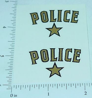 Saunders Police Car Replacement Sticker Set      SA-001