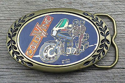 Gold Wing Honda Motorcycle Heritage Buckles Brass 1980's Vintage Belt Buckle