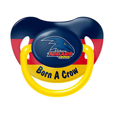 81817 Adelaide Crows Afl Born A Fan Infant Baby Dummy Pacifier +6 Months