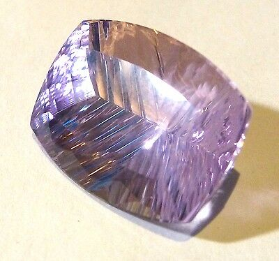 Spectacular Purple AMETHYST Antique Concave Cut 21x15 mm 18.95 Ct.