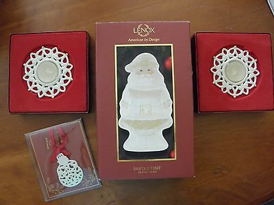 Lenox NIB, winter/Christmas items 4 pieces