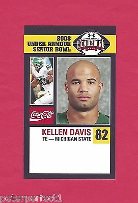 Kellen Davis 2008 Senior Bowl Michigan State Spartans Msu Rookie New York Jets