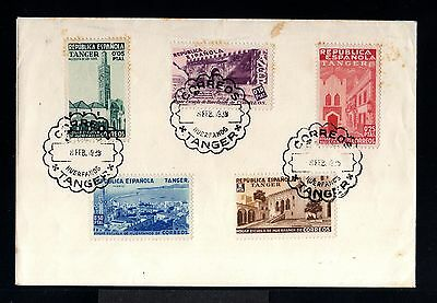 11285-SPANISH MOROCCO-SPAIN COLONIES-OLD COVER TANGER set.1939.WWII.Marruecos.