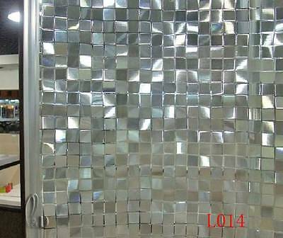 90cm x5m Static Glueless 3D Reusable Removable Frosted Window Glass Film L014