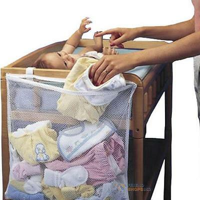 Laundry Baby Cot Dirty Clothes Diaper Bag Bed Large Hanging Mesh Storage Bag